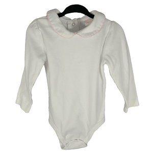 🍒3/$20🍒 White Long Sleeve Onesie w Fancy Collar